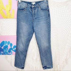 By The Way Revolve Button Fly High Rise Crop Jean